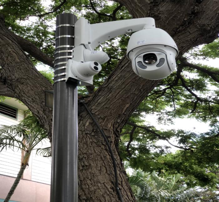 KKV mall video surveillance cctv installation